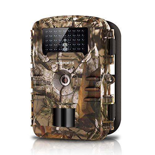 WOSPORTS Trail Camera Full HD 1080P Hunting Game Camera, 940nm Motion Activated Night Vision 65ft, Waterproof Scouting Cam 2.4
