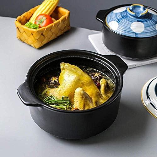UWY Plats à ragoût avec couvercles Casserole Pot - Casserole Pot à ragoût Pot de Riz Domestique Riz à Haute température Pot à ragoût-4.5L