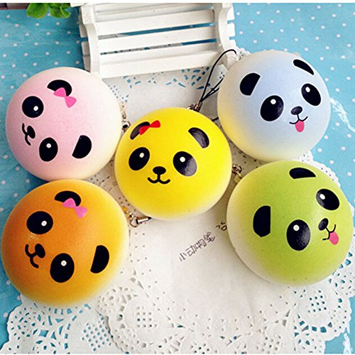 Squishy Uae : Eworld 2-Pcs Squishy Panda Toy - Colorful Jumbo Bread Slow Rising Kawaii Soft Cute Hand Pillow ...