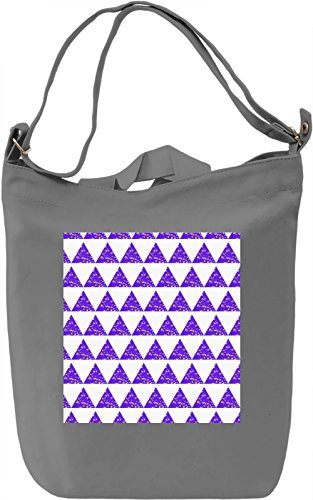 Purple Triangles Borsa Giornaliera Canvas Canvas Day Bag| 100% Premium Cotton Canvas| DTG Printing|