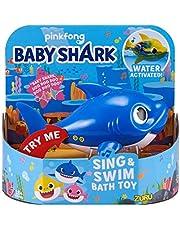 ZURU ROBO ALIVE JUNIOR 25282B Daddy Shark Zing en Zwemmen Bad Speelgoed, Blauw