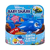 Robo Alive Junior Baby Shark Battery-Powered Sing and Swim Bath Toy by ZURU - Daddy Shark (Blue): more info
