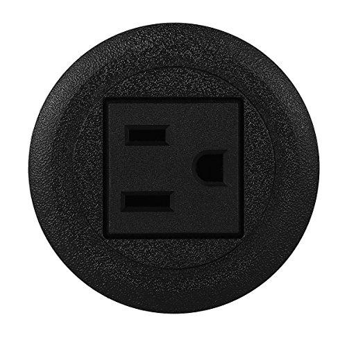 - Mini Desktop Power Hub Grommet Socket Desk Outlet Build-In 1 US Standard Outlet with 6.56 FT Extension Power cord