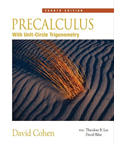 Precalculus: With Unit Circle Trigonometry (with Interactive Video Skillbuilder CD-ROM) (Available 2010 Titles Enhanced Web Assign)