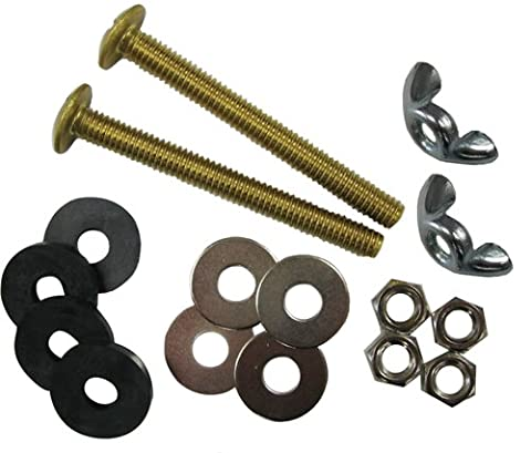 Kissler & Company Inc. 68-7321 Tank to Bowl Bolt Set Heavy Duty, Solid Brass (Plumbing Washer Set)