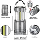 GYMAN-2-Pack-LED-Camping-LanternFlashlight-Latest-COB-Technology-Survival-Kit-for-Emergencies-Hurricanes-Storms-Camping-Gear-for-Hiking-Outages-Night-Fishing