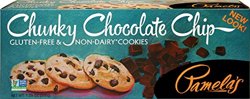 Pamela#039s Products Gluten Free Cookies Chunky Chocolate Chip 725Ounce Boxes Pack of 6