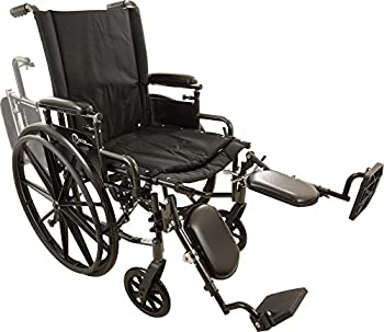 Roscoe Medical W420168E Onyx K4 Wheelchair with Elevating Leg Rests, 20""