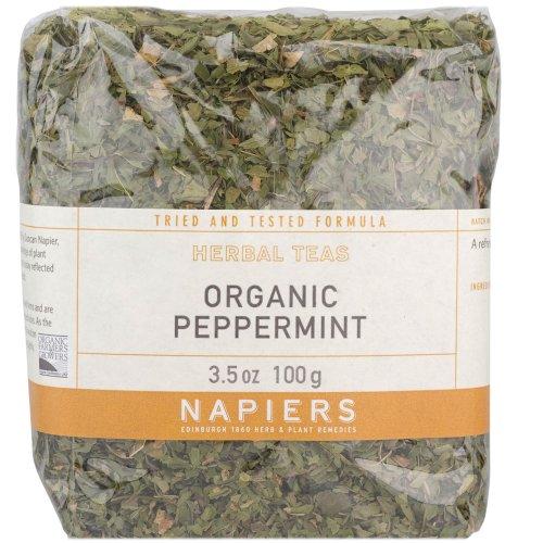 - Napiers Organic Peppermint Herbal Tea 100g - Natural Herbal Loose Tea Helps Aid Digestion