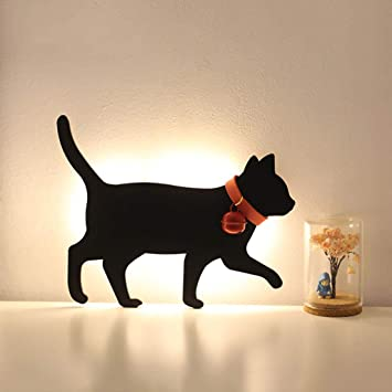 Luces De Silueta Luces Románticas De Noche Luces De Gato Sensor De Gato Voces Sensor De ...