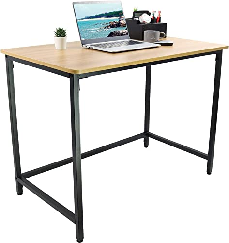KKTONER Computer Office Desk 39.4 Modern Simple Computer Table Study Writing Desk for Home Office Natural
