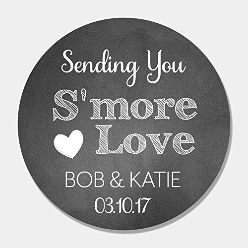 40 Customized S'More Wedding Favor Labels - Chalk S'More Love Favor Tags]()
