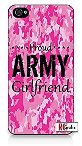 The Best Pink Camo Military Army Girlfriend Camouflage Direct UV Printed iPhone 4 Quality Hard Snap On Case for iPhone 4 4S 4G - AT&T Sprint Verizon - Black Frame