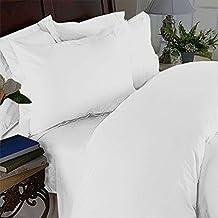 Elegant Comfort 3 Piece Ultra Soft Egyptian Quality Coziest Duvet Cover Set, King/California King, White