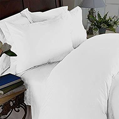 Elegant Comfort 4 Piece 1500 Thread Count Luxury Silky Soft Egyptian Quality Coziest Sheet Set, Full, White