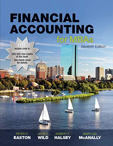 Financial Accounting for MBAs, 7e [Hardcover] Easton; Wild and Halsey