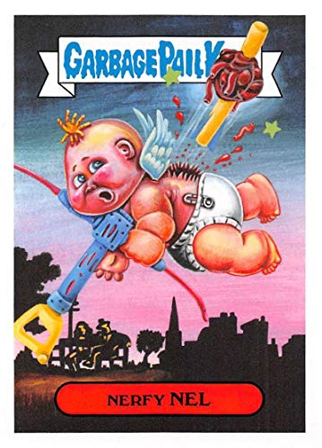 2019 Topps Garbage Pail Kids We Hate the '90s Toys Sticker #10a NERFY NEL Sticker Trading Card