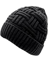 7271e26803e1e Mens Winter Warm Knitting Hats Wool Baggy Slouchy Beanie Hat Skull Cap