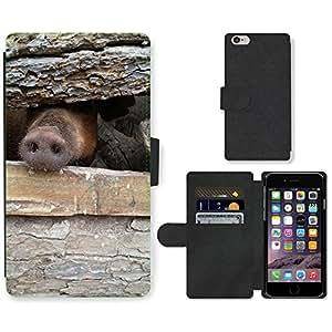 "PU LEATHER case coque housse smartphone Flip bag Cover protection // M00133982 Cerdo Granja Animal Jaula // Apple iPhone 6 4.7"""