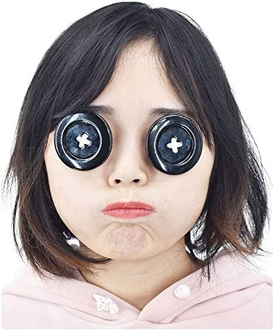 Amazon Com C Zofek Coraline Cosplay Props Button Eyewear For Other Mother Cosplay 2 Inch Black Clothing