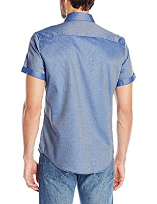 Calvin Klein Men's S/Yd Checkered Jacquard Shirt