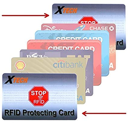 Xtech RFID Protecting Cards (2 Pack) Protects from Radio Frequency ID & NFC  Card Theft