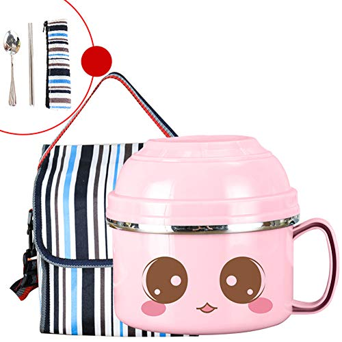 Lovely Insulated Lunch Box For Kids,anti-drop Leak-proof Anti-scald 100% Thermal Bento Box,can Be Used For Kids Students-n 20.5x15cm(8x6inch)