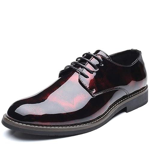 En Talon À Verni Habillées Aigu Cuir Décontracté Chaussures Hilotu vg7Ybfy6I