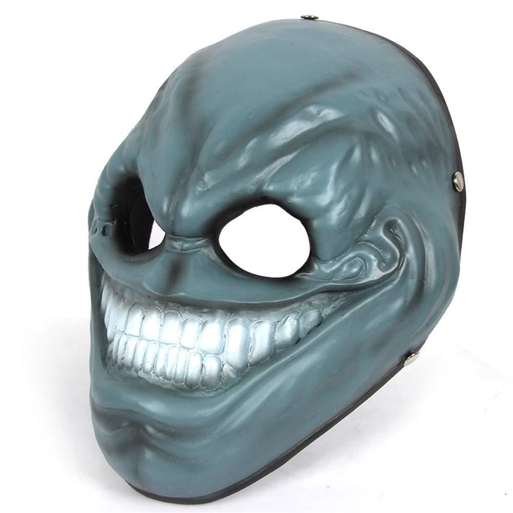 ILYMJ Halloween Cosplay Harz Harz Harz Maske, blau Masken 3c2c58