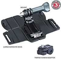 USA Gear Action Camera Mounts with J Hook and Tripod Adapter - Works With GoPro Hero5 Black , Hero5 Session , HTC RE Camera , Garmin Virb Ultra 30 and Virb 360…Plus Many More by USA Gear