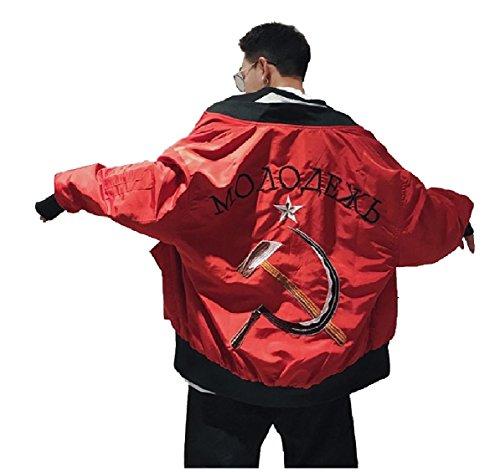 Stampa E Lei Grafica Cuterose Moda Cappotto Rosso Per Uomini Lui Giacche Rilassato Per z0nRq4EW