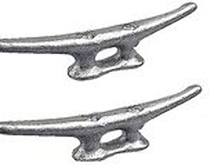 New Marine Dock Cleat 8 Galvanized Open Base Boat 10 Pack