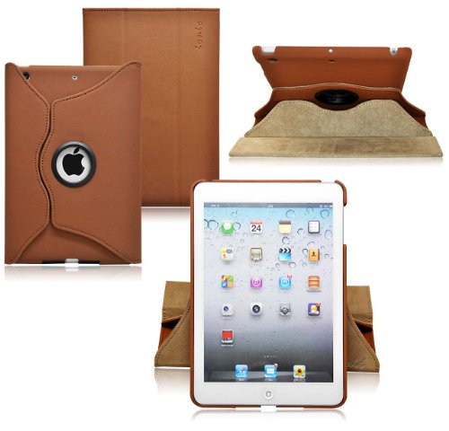 Ionic Rotating Stand Leather Case for iPad Mini