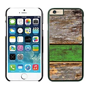 Classic Old Green Wood Texture iPhone 6 Plus Case Black
