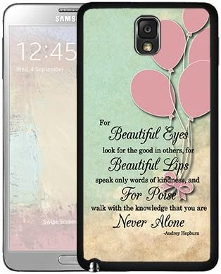 Cute Audrey Hepburn Life Quote With Vintage Pink Balloons Wallpaper Samsung Galaxy Note Iii 3 N9000 Hard Snap On Phone Case Cover Amazon Co Uk Electronics