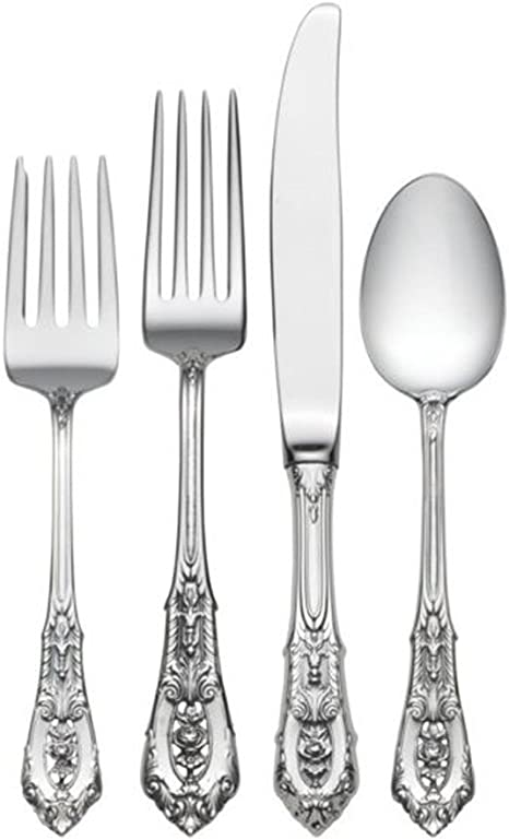 NEARLY NEW CONDITION WALLACE ROSE POINT STERLING SILVER PLACE FORK