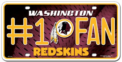Washington Redskins License Plate - #1 - Outlets Washington Premium