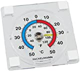 Fackelmann 63751 Window Thermometer Self-Adhesive 3x3in of Plastic