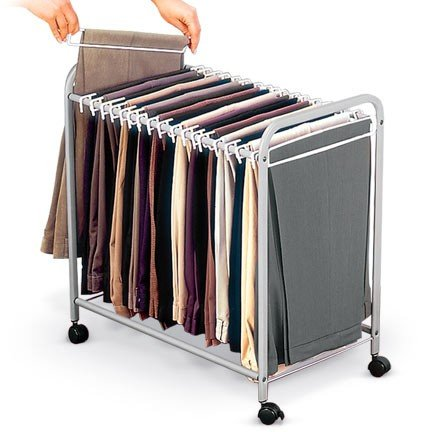 18 Pairs of Rolling Pants Trolley