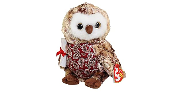 29f2b0e50cf Amazon.com  TY Beanie Baby - SMARTY the Graduation Owl (w Red Chest   No  Hat version) (6.5 inch)  Toys   Games