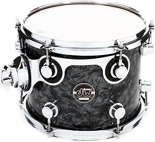 DW Performance Series Mounted Tom - 8 Inches X 10 Inches Black Diamond FinishPly