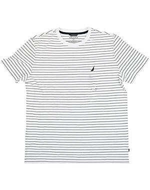 Men's Short Sleeve Stripe Crew Neck Tee