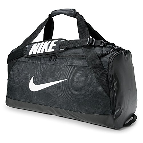 Nike Brasilia 6 Duffel Bag Black/White Size Medium by NIKE