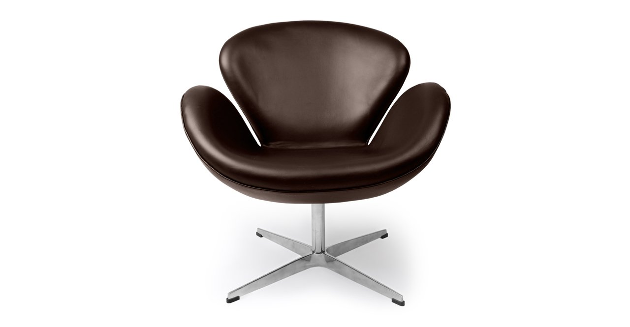 Kardiel Trumpeter Chair Choco Brown Leather