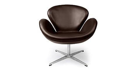 Amazon.com: kardiel Swan Chair, Premium piel anilina ...