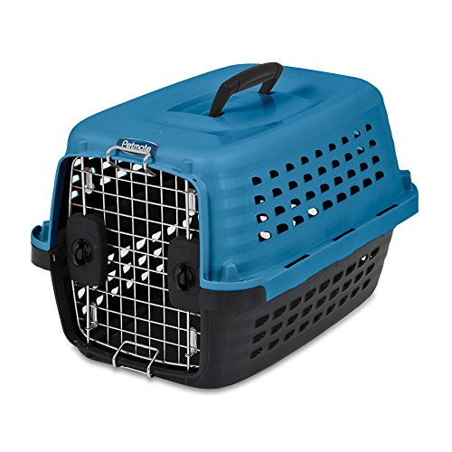 Petmate Compass Fashion Kennel, 24.6''L x 16.9''W x 15''H, Blue/Black, 5ct