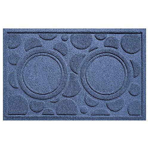 Bungalow Flooring Aqua Shield Dog Bowl Dots Pet Mat, Navy