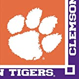 Club Pack of 240 NCAA Clemson Tigers 2-Ply Tailgating Party Beverage Napkins