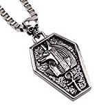 Fire Eyes-DIY Egypt Queen Jewelry Mystical Coffin Amulet Anubis Jackal Head Pendant Chain Necklace