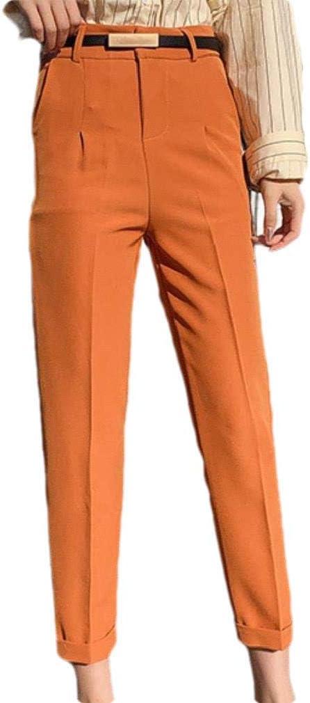 CuteRose Mens Original Fit Skinny Casual Leisure Business Pant Trousers